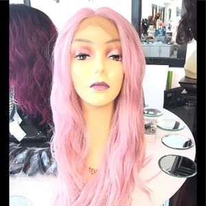 Long Pink wig wavy soft Swisslace 2019 hairstyle